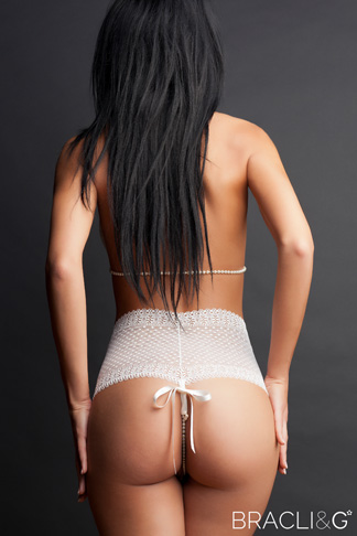 Bracli & G Thong in Natural White